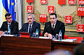 Andrei Dolineaschi, Liviu Dragnea si Victor Ponta la reuniunea BPN al PSD - 20.01.2014 (12049107005).jpg