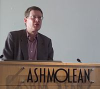 Andrew Robinson at the Ashmolean Museum, Oxford.