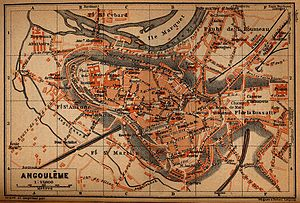 Angoulême - Map of Angoulême in 1914.