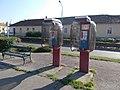 Angyal street's inn and farm buildings. Listed 5691. Pesti road side. Phone boxes. - Gyöngyös.JPG