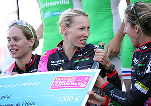Anja Dittmer - Anja Dittmer with Katrien Verstuyft and Delphine Py-Bilot at Tours, 2011.