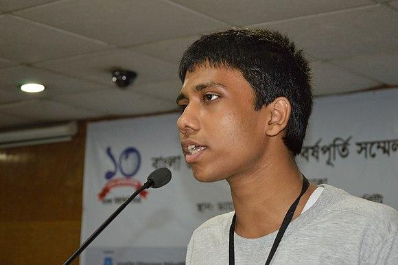 Ankan Ghosh Dastider Speaks - Growth and Progress of Bangladeshi Wikimedia Community - Bengali Wikipedia 10th Anniversary Celebration - Daffodil International University - Dhaka 2015-05-30 1670.JPG