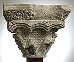 Anonyme toulousain - Chapiteau de colonne simple , La Descente de croix et la Mise au tombeau - Musée des Augustins - ME 134 (4).jpg