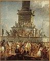 Anonymous - Embrasement du trône de Louis-Philippe, place de la Bastille, le 24 février 1848. - P1568 - Musée Carnavalet.jpg