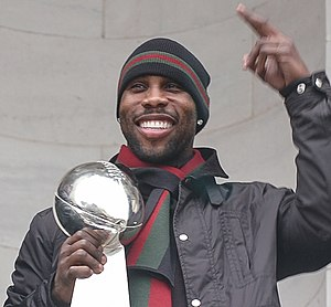 Anquan Boldin - Boldin during the Baltimore Ravens' Super Bowl XLVII victory celebration
