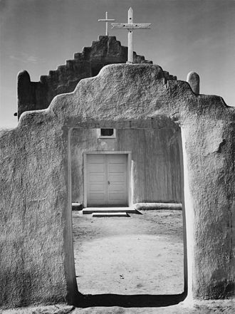 Taos Pueblo - Church, Pueblo de Taos (Ansel Adams—1941)
