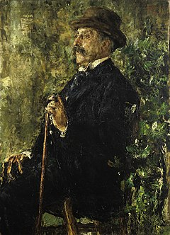 Antonio Mancini - Portrait of John Lowell Gardner