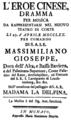 Antonio Sacchini - L'eroe cinese - titlepage of the libretto - Munich 1770.png