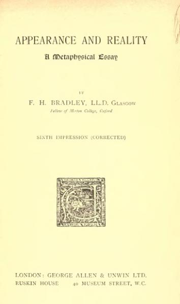 File:Appearance and Reality (1916).djvu