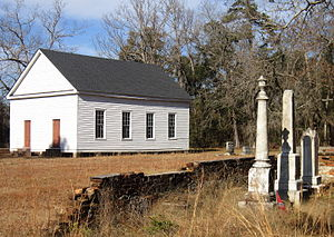 National Register of Historic Places listings in Dorchester County, South Carolina - Image: Appelby's Methodist Church and Gravestones