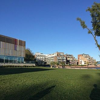 Kvadraturen (Kristiansand) - Image: Aquarama Bystranda