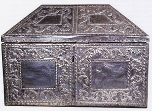 Eulogius of Córdoba - A silver reliquary containing the remains of Saints Eulogius and Leocritia of Cordoba, in Camara Santa, Oviedo Cathedral, Oviedo, Spain.