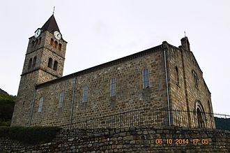Arcens - The church in Arcens