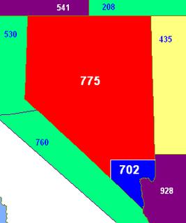 Area code 775 Area code for Nevada, United States
