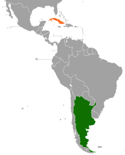 Argentina–Cuba relations Diplomatic relations between the Argentine Republic and the Republic of Cuba