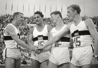 Martin Lauer - Martin Lauer (2nd from left) at the 1960 Olympics