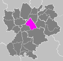 Location of La Tour-du-Pin in Rhône-Alpes