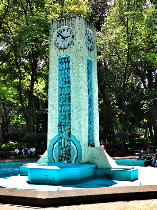 Art deco clock in Parque México, col. Hipódromo, Condesa, Mexico City