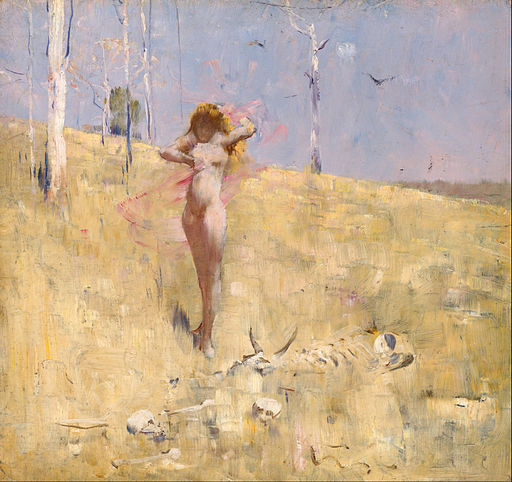 """The Spirit of the Drought"" by Arthur Streeton"