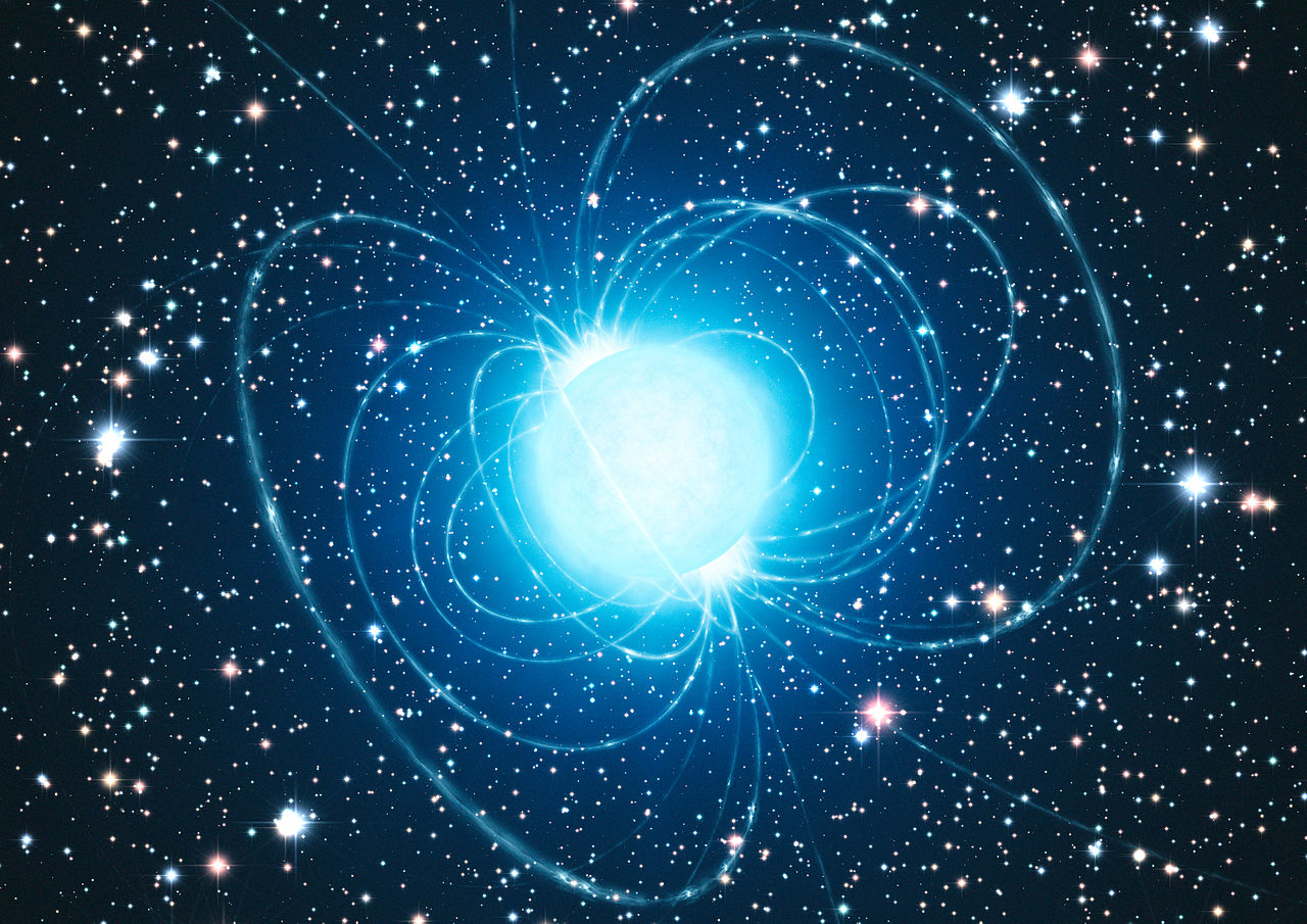 Artist's impression of the magnetar in the extraordinary star cluster Westerlund 1.jpg