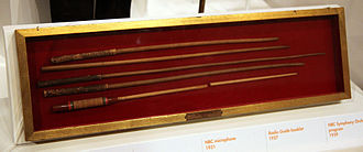 Baton (conducting) - Batons used by Arturo Toscanini, on display at a Smithsonian museum.