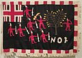 Asafo Flag, No. 2 Company; created by Akwa Osei; Ghana, Fante people; c. 1900, Cotton and rayon, embroidery and appliqué.jpg