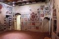 Asciano, museo di palazzo corboli, int., sala di aristotele con affreschi attr. a Cristoforo di Bindoccio e Meo di Pero, XIV sec. 02.JPG