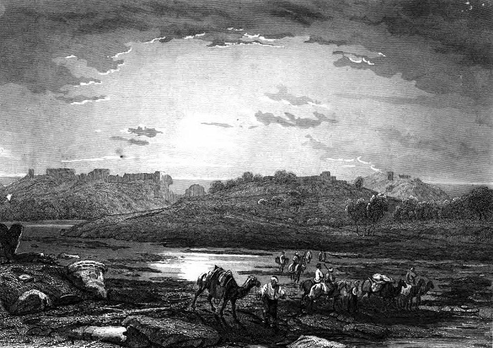 Ashkelon, Illustration for La Terre-Sainte et les lieux illustrés par les apôtres, by Adrien Egron, 1837 (1)
