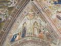 Assisi, santa chiara, interno, maestro espressionista di santa Chiara, volta con sante caterina e margherita.JPG