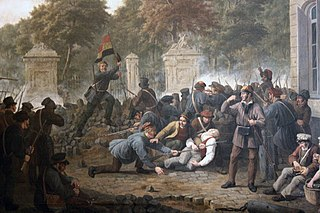 Scene of the Belgian Revolution