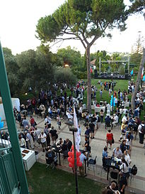 Auditorium Garden Cocktail - Wikimania 2011 P1040101.JPG