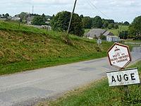 Auge (Ardennes) city limit sign.JPG