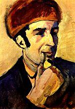 August Macke. Portrait of Franz Marc. 1910. Neue Nationalgalerie.