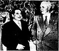 Australian Minister of Immigration M. Hand and French Consul-General Jean Strauss at French Painting Today, Hobart 1953.JPG