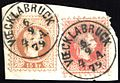Austria fragment with 1874 5 and 15kr VOECKLABRUCK.jpg