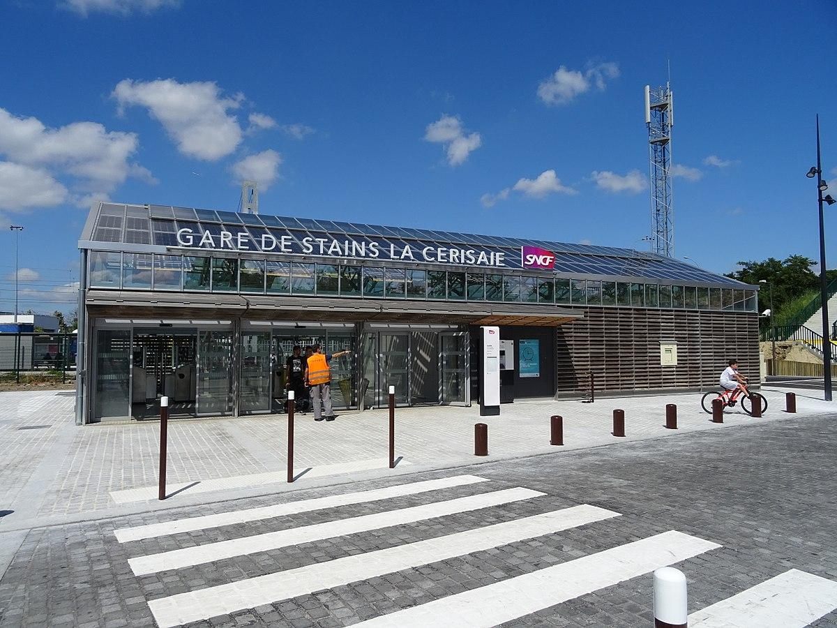 Gare de stains la cerisaie wikip dia for Garage de la gare bretigny
