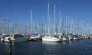 Båtar vid Saltholmen
