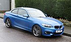BMW 218d 1995cc registered September 2015 on a slope in Swansea.jpg