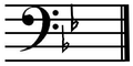 B flat major on bass clef.png