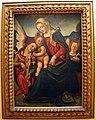 Bacchiacca (attr., da piero di cosimo), madonna col bambino e due angeli.JPG
