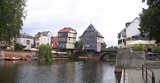 Nahe (river) - Historic bridge houses in Bad Kreuznach