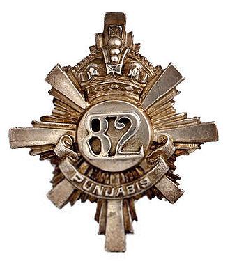 82nd Punjabis - Image: Badge of 82nd Punjabis