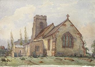 Thomas Baker (artist) - Ufton church by Baker