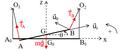 Balançoire trapèze oscillant horizontalement autour d'un axe vertical - bis.png