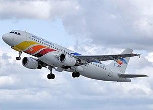 BH Air - BH Air Airbus A320-200 takeoff from Bristol Airport.