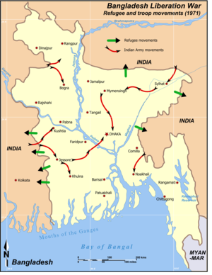 Bangladesh War 1971 Movements.png