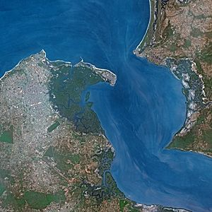 Banjul seen from SPOT satellite