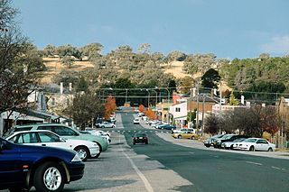 Molong Town in New South Wales, Australia