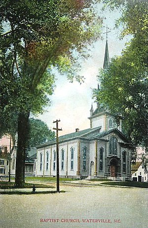 First Baptist Church (Waterville, Maine) - General view in 1907