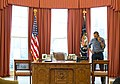 Barack Obama talks on the phone with Russian President Vladimir Putin about Ukraine, March 1, 2014.jpg